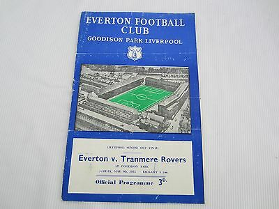 1953-54 LIVERPOOL SENIOR CUP FINAL EVERTON v TRANMERE ROVERS