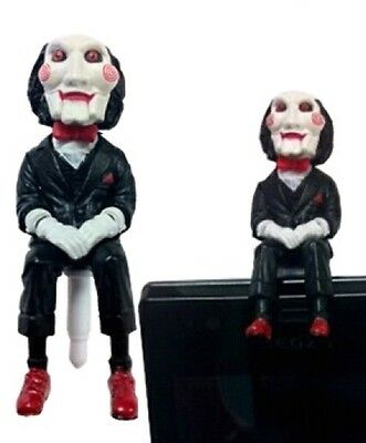 Jigsaw Puppet Figure Saw Movie Phone Charm Figure Anti Dust iPhone Galaxy Jack