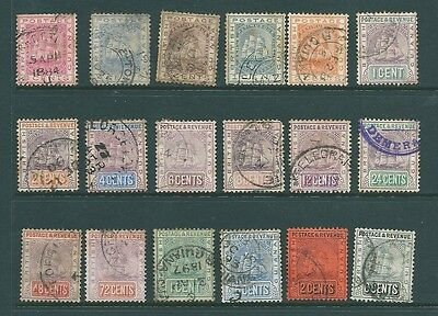 BRITISH GUIANA - Used stamps from 1876 onwards
