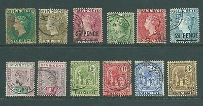ST VINCENT - USED stamp collection - Queen Victoria onwards