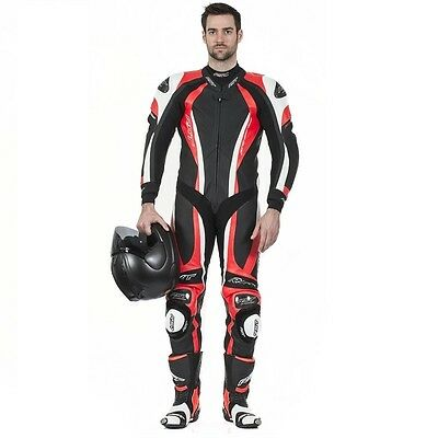 RST 1033 CPXC 1 One Piece Leather Race Motorcycle Motorbike Suit Fluo Red NEW