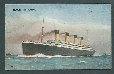 GB postcard - RMS TITANIC with contemporary note on reverse