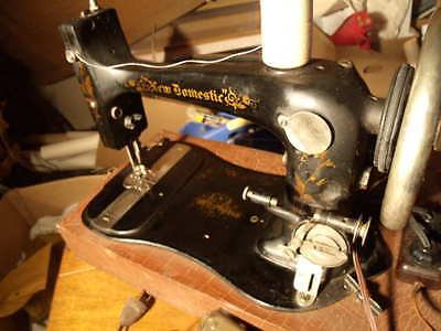 "New Domestic ""domestic Smc"" Early Fiddle Base Sewing Machine"