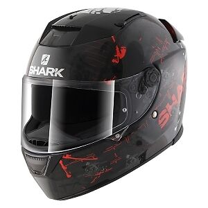 Shark Speed R Charger Motorcycle Full Face Helmet KWR Black / White / Red NEW