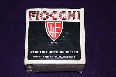 Giulio Fiocchi 12ga Empty Shotgun Shell Box Black w/Red Shield Solid Fine Plus