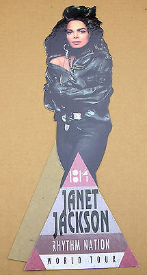 JANET JACKSON Rhythm Nation World Tour US Commercial Counter Display Standee M-