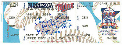 Cal Ripken Autographed/signed Baltimore Orioles 3000 Hit Ticket Stub 14681 Jsa