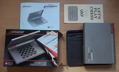 Kasparov Chess Computer Plus Portable Retro Travel Game Board SciSys
