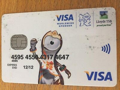 London 2012 Olympic & Paralympic Games Corporate Visa Card - LTSB - collector