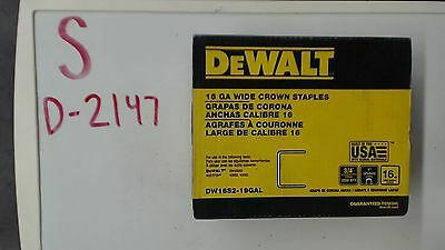 Dewalt 16 Ga Wide Crown Staples DW16S2-19GAL 2000 Quantity