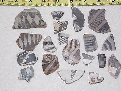 Ancient Native American Pottery Shards Southwest Lot # 1