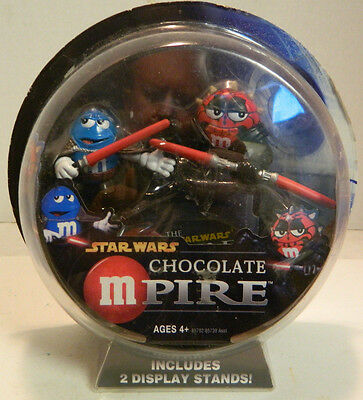 Vintage Chocolate Mpire Count Dooku & Darth Maul M&M Figures New In Package 4+