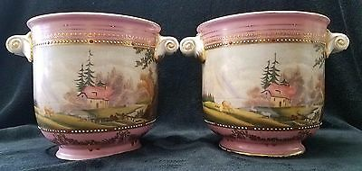 """Antique Pair of  Sevres URNS. 8"""" Tall. Rare!!!!"""