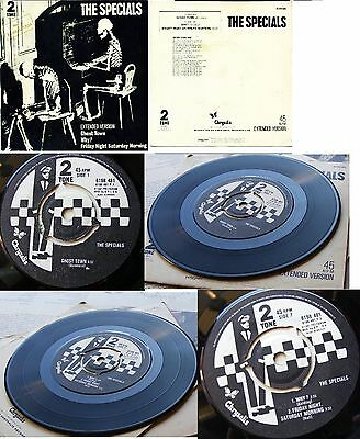 """THE SPECIALS GHOST TOWN  NEAR MINT 1st PRESS EP PS Greek 7"""""""