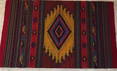 Exquisite Hand Loomed Zapotec Mexican Wool Rug