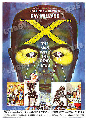 X The Man With The X-Ray Eyes Lobby Card Poster Os 1963 Ray Milland