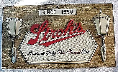 Stroh's Classic Vintage Beer Display Advertising Sign... Detroit, Michigan