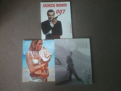 3 James Bond Christies Auction Programmes Rare And Collectable-Mint Condition.