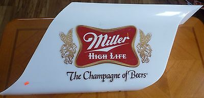 Vintage Miller High Life White Opaque Plastic Lighted Beer Sign Working