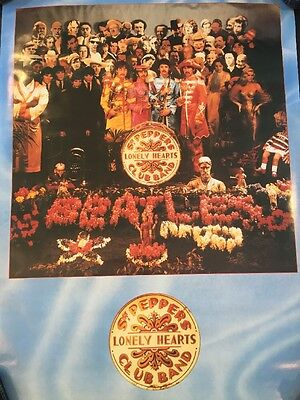 BEATLES Sergeant Pepper Lonely Hearts Vintage 1987 Poster