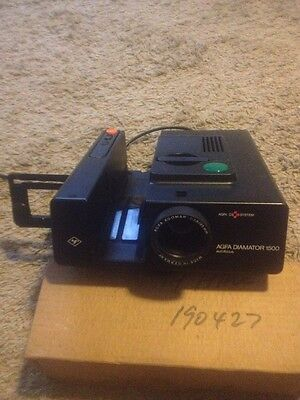 Agfa Diamator 1500 automatic slide projector With Box