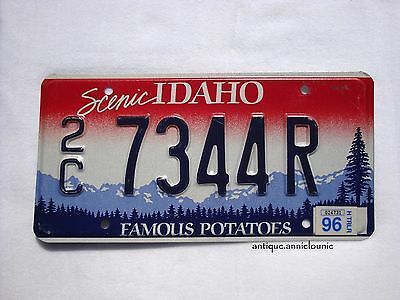 1996 Scenic IDAHO CANYON COUNTY (2C) Vintage License Plate TRAILER # 7344R