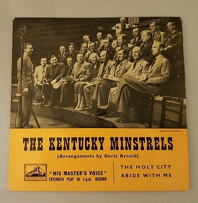 """7"""" 45rpm EP The Kentucky Minstrels - The Holy City / Abide With Me"""