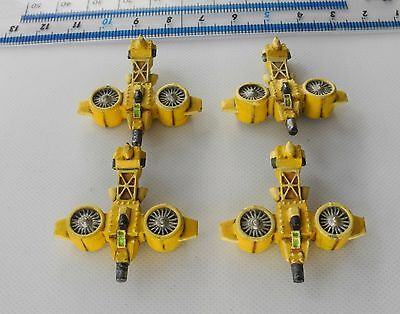 4 Epic 40K IRON EAGLE GYROCOPTERS Metal Squat Squats Army Painted 1990s PC1