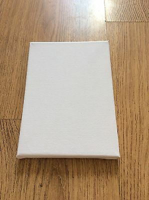 "Blank Stretched White Canvas Pack Of 4 Approx. 5x7"" Craft Art Artists Mini Small"