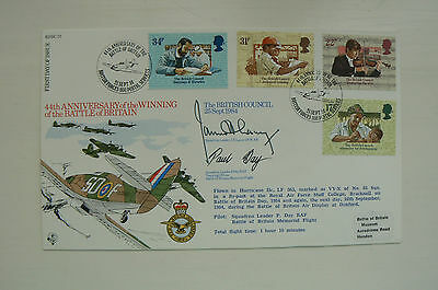 Raf Rfdc 31 Fdc Battle Of Britain - Signed James 'ginger' Lacey Dfm , Paul Day