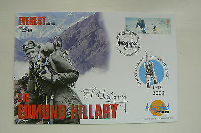 Autographed Editions Fdc Extreme Endeavours - Signed Sir Edmund Hillary