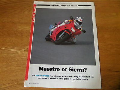 Suzuki RF600R Road Test Launch Special Motorcycle Sales Brochure 1993