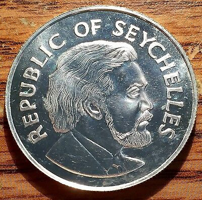 1977 Silver Seychelles 25 Rupees Queen's Jubilee Gem Proof Coin