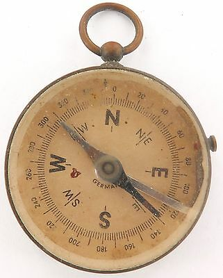 A GOOD LARGE EARLY 1900's GERMAN MADE COMPASS. WW1 ?