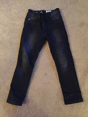 Boys Next Black Super Skinny Jeans Black Denim Distressed Age 4 Years