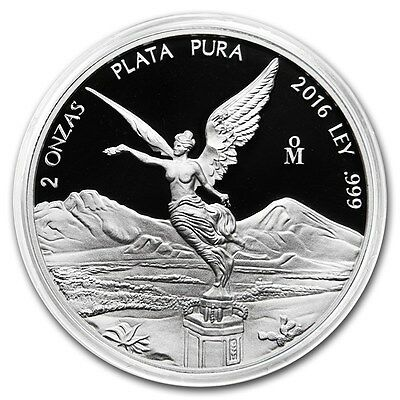 *SALE* PROOF LIBERTAD - MEXICO - 2016 2 oz Proof Silver Coin in Capsule