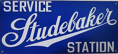 "Service Studebaker Station Metal Sign 18"" by 8"""