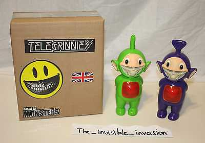 Ron English - Telegrinnies Green & Purple - Made By Monsters - Grin Teletubbies