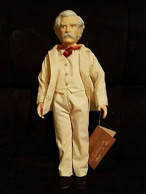 Vintage 1983 Effanbee Great Moments in Literature #7631 Mark Twain Doll W/ Tag