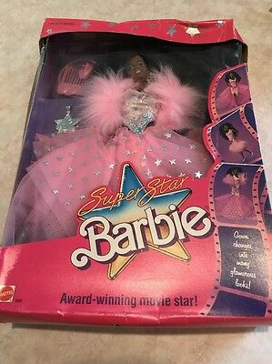 1988 African American Superstar Barbie movie Hollywood doll Mattel  NIB 1605