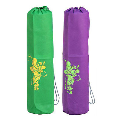 Easy Yoga Mat Bag - Flower Pattern - in Purple or Green