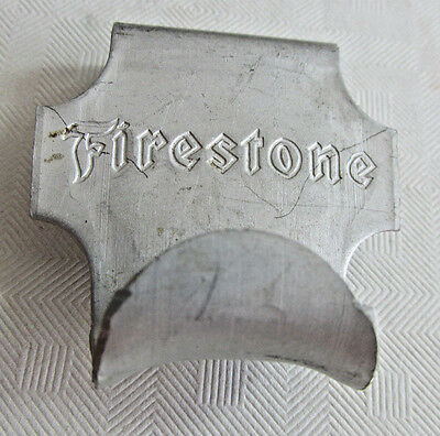 Vintage FIRESTONE Advertising Car Window Clothes Hanging Hook, Aluminum, Tires