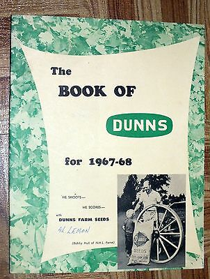 BOOK OF DUNNS 1967 1968 Farm Seeds Bobby Hull Guelph Ontario Catalog Book RARE