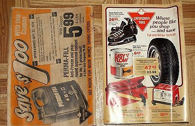 CANADIAN TIRE Catalog Fall Winter 1979 1980 Wrapper Tires Hockey Book