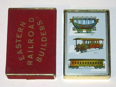 Vintage EASTERN RAILROAD BUILDERS Deck of Playing Cards in Box! Antique Trains!