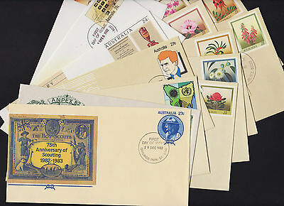 Pre-Stamped Envelope First Day of Issue 1982 full set of 14 envelopes 046-059