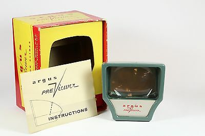Vintage Green Argus Previewer Slide Viewer No.660 with Box and Instructions
