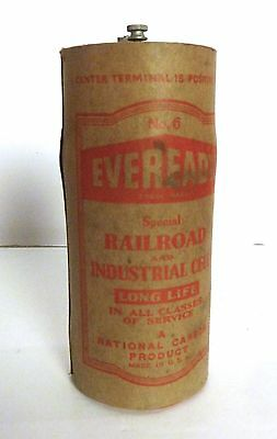 Vintage Eveready Railroad and Industrial Dry Cell Battery Radio Telegraph