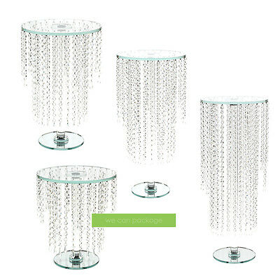 Crystal Glass Chandelier Cake Stand | Available in 4 Sizes | Wedding Centerpiece