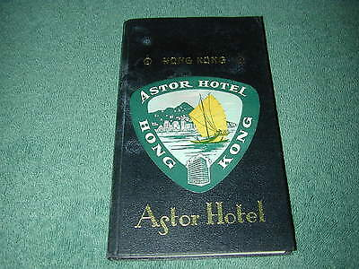 1963 astor hotel , hong kong information book : servises in hotel and the island